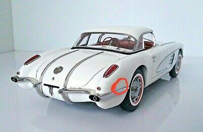 1958 Corvette Diecast Model in White by Auto Art in 1:18 Scale