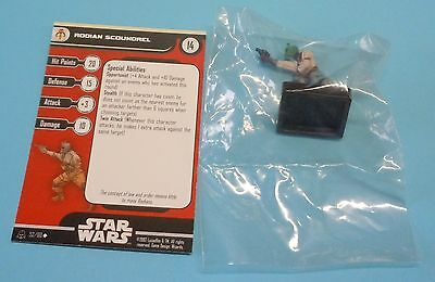 Star Wars Miniatures Alliance Empire Rodian Scoundrel #52/60 NEW NIB Minis