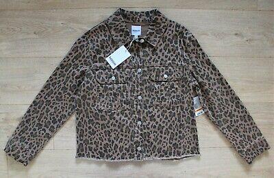 Kensie leopard print denim jacket, S, NEW! RRP £50