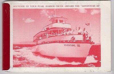 60s? PHOTO Booklet — Pearl Harbor Cruise Aboard Adventure III Hawaii WWII pics