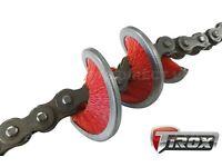 Bikeit Motorcycle Motorbike Tirox 360 Degree Fast /& Easy Chain Cleaning Brush