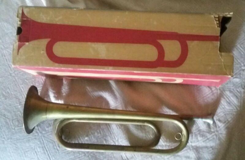 Vintage Rexcraft Regulation Bugle With Original Box