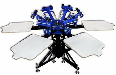 6 Color Screen Printing Press Shirt Screen Printing Equipment Silk Screen Machin