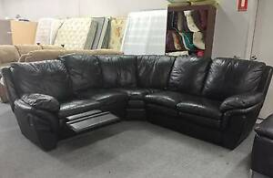 DELIVERY TODAY COMFORTABLE LEATHER RECLINER L shape corner sofa Belmont Belmont Area Preview