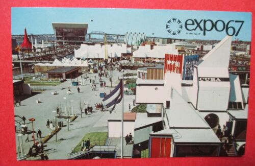 Showing Cuba Russia and Ethiopia Pavilions Expo 67 Montreal Canada Postcard
