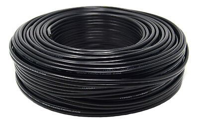 14 Gauge Stranded Wire - 14 Gauge 100 Feet Black Stranded 2 Conductor Copper Clad Speaker Wire Car Audio