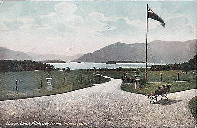 Lower Lake From Victoria Hotel & Flag, KILLARNEY, County Kerry, Ireland