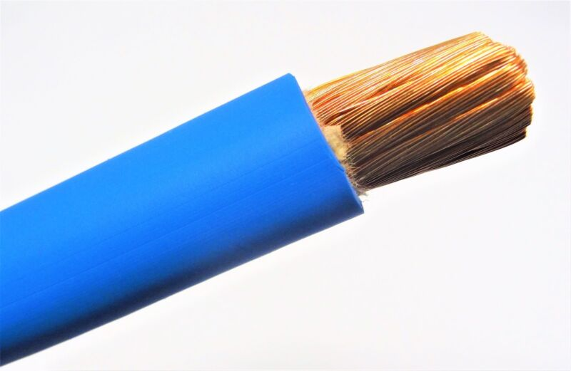 2/0 WELDING BATTERY CABLE BLUE 600V USA EPDM JACKET  HEAVY DUTY COPPER 30