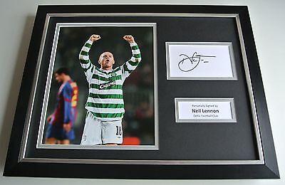 Neil Lennon SIGNED FRAMED Photo Autograph 16x12 display Celtic Football & COA
