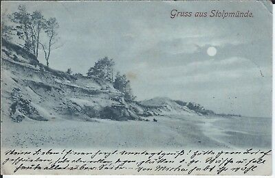 (AK75) Gruss aus Stolpmünde gelaufen 1899