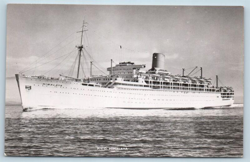 Postcard P&O Orient Lines Himalaya Steamer Ship RPPC Real Photo V2