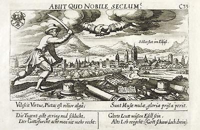 SCHLETTSTADT / SELESTAT - GESAMTANSICHT - Meisner - Kupferstich 1637/1638