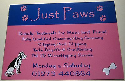 Advertising Animal Services Just Paws Shoreham by sea West Sussex - unposted