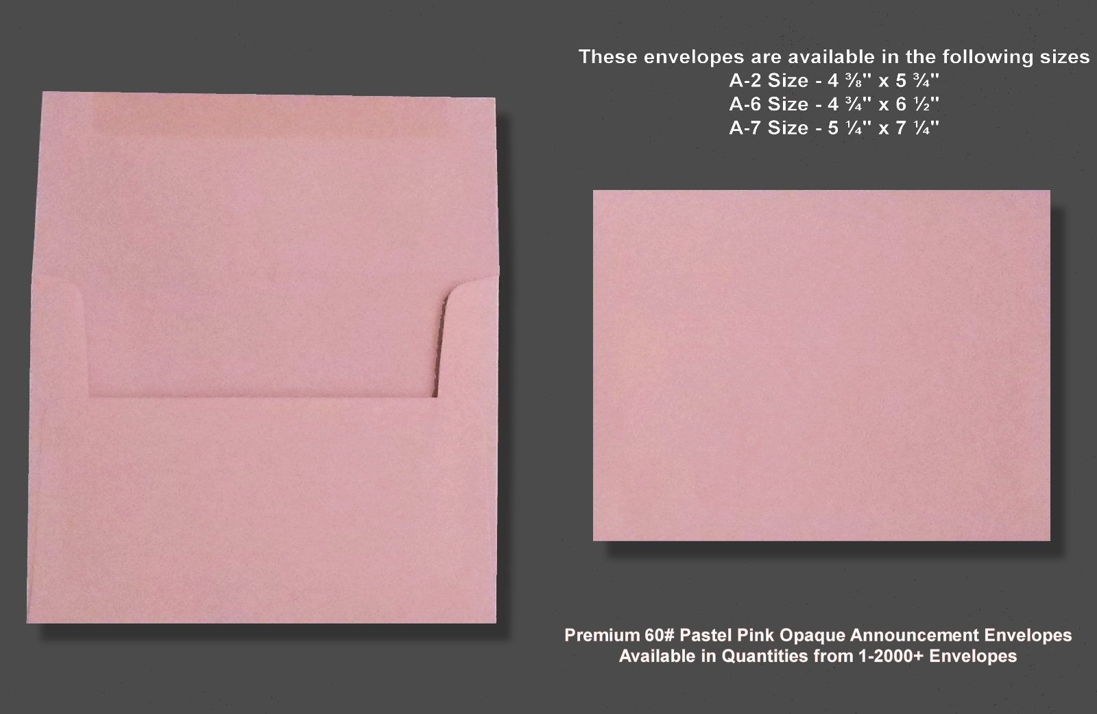 a2 a6 a7 60 premium pastel pink announcement envelopes various