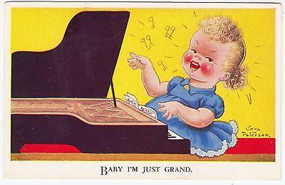 Usado, VERA PATERSON - Baby I'm Just Grand - Piano Music - #1207 - c1940s era postcard segunda mano  Embacar hacia Mexico