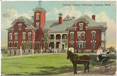 Jackson County Infirmary in Jackson MI Postcard 1912 for sale  Shipping to Canada