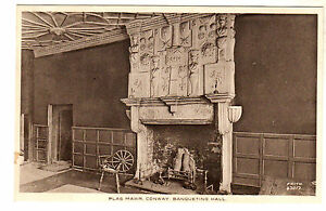 Plas-Mawr-Conway-Banqueting-Hall-Photo-Postcard-c1930