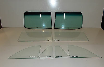 1949 1950 1951 1952 CHEVROLET CONVERTIBLE COMPLETE GLASS SET CLEAR