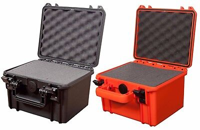 Waterproof Dustproof IP67 Rated Deep Small Hard Protective Camera Case + Foam!