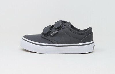 Vans Big Kids Children Youths Boys Shoes Atwood V Straps Canvas Pewter Pewter Kids Shoes
