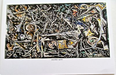 Jackson Pollock Poster Night Mist Drip Style Painting  14X11 Offset Lithograph