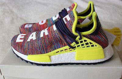 New Adidas Pharrell Williams Human Race HU NMD Trail Multi Ink Yellow UK 6 6.5