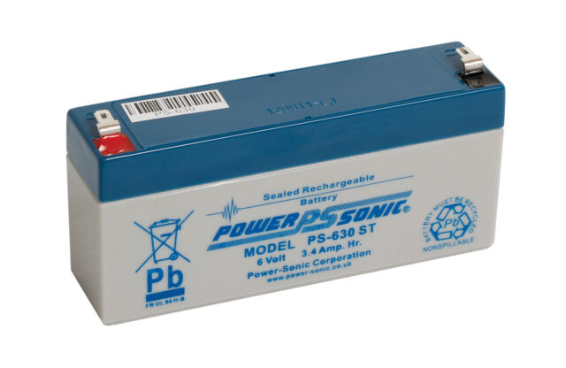 NX S 6V-3.2AH, AMP9022, 6 volt SLA Battery replacement