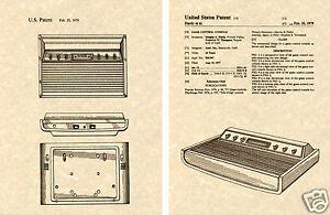 Atari 2600 console us patent art print ready to frame - Atari flashback mini 7800 classic game console ...