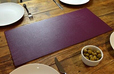 Set of 2 AUTUMN WINE Bonded Leather TABLE RUNNERS MATS Centerpiece MADE IN UK