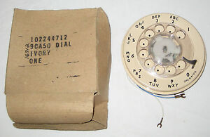NEW Ivory 9CA Replacement Rotary Dial Western Electric Bell System NIB NOS
