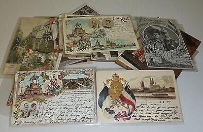 K�ln K�lner Dom Ansichtskarten Sammlung 115 St�ck um 1900 zahlreiche Lithos etc.