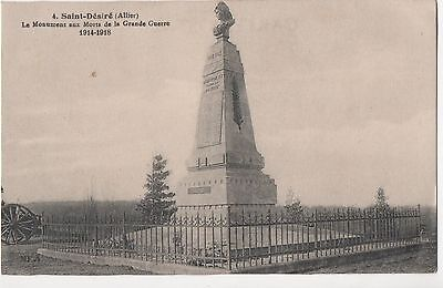POSTCARD  MILITARY WWI SAINT DESIRE  War Memorial