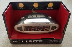 Acu-Rite Digital Self- Setting Alarm Clock NIB large display red daylight saving