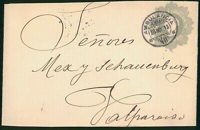 Mayfairstamps Chile 1911 Ambulancia to Valparaiso Stationery cover wwo1541
