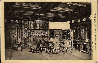 Germanisches Museum Zimmer Ganterswil St. Gallen AK ca. 1930 alte AK SCHWEIZ