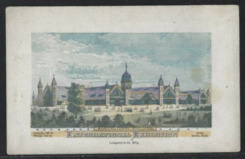 1876 Philadelphia International Exhibition Postcard - Agricultural Building