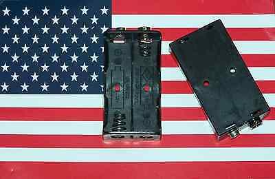 1pc 2x Aa Battery Holder With 9v Snaps Clip Um3x2 Um-3x2 Us Seller