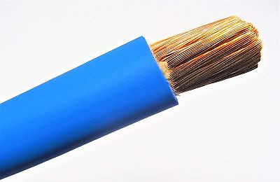 25 Ft 1 Awg Weldingbattery Cable Blue 600v Pure Copper Usa Made 105c