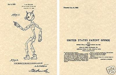 Vintage 1935 REDDY KILOWATT PATENT Art Print READY TO FRAME!!!! Collins Ready