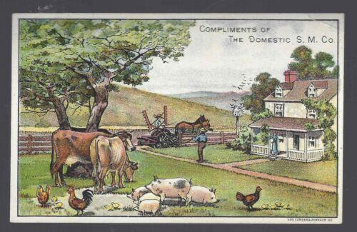 Vintage Victorian Trade Card Domestic S.M.Co. Farm Scene
