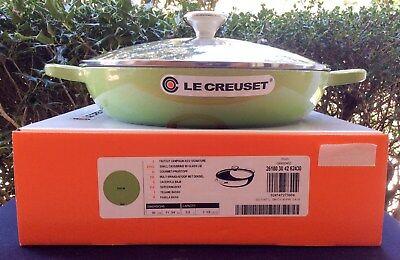 Le Creuset 3.5 qt. Braiser with Glass Lid ~ Palm