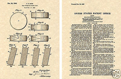 ICE HOCKEY PUCK US Patent Art Print READY TO FRAME! Vintage Ross 1940 NHL rink