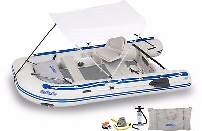 Sea Eagle 10ft 6in Sport Runabout Boat with Rigid Inflatable Floor-Delux Rigging