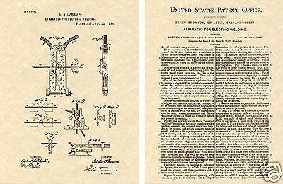 Thomson Arco Soldador Eeuu Charol Arte Estampado Listo A Vintage 1886 Eléctrico