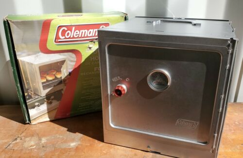 Coleman Folding Camp Oven Stove New Open Box & Instructions, Never Used!