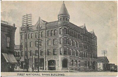 First National Bank Building in Missoula MT Postcard 1916