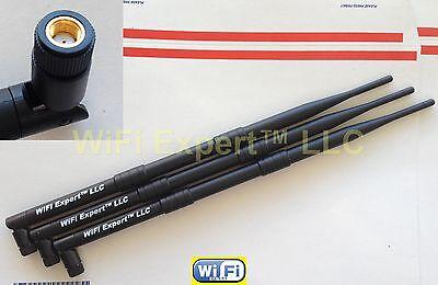 3 9dBi 2.4GHz 5GHz Dual Band RP-SMA WiFi Antennas Linksys EA6900 ASUS RT-AC68U