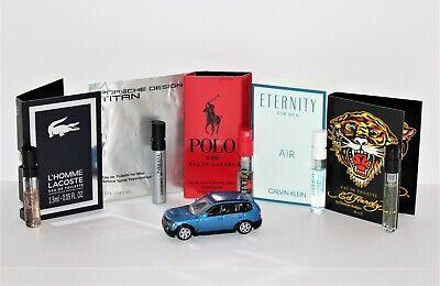 5 Men's Cologne Samples: LaCoste, Calvin Klein, Ralph Lauren, Ed Hardy, Porsche