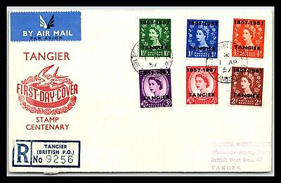 GP GOLDPATH: MOROCCO COVER 1957 AIR MAIL REGISTERED LETTER _CV677_P05