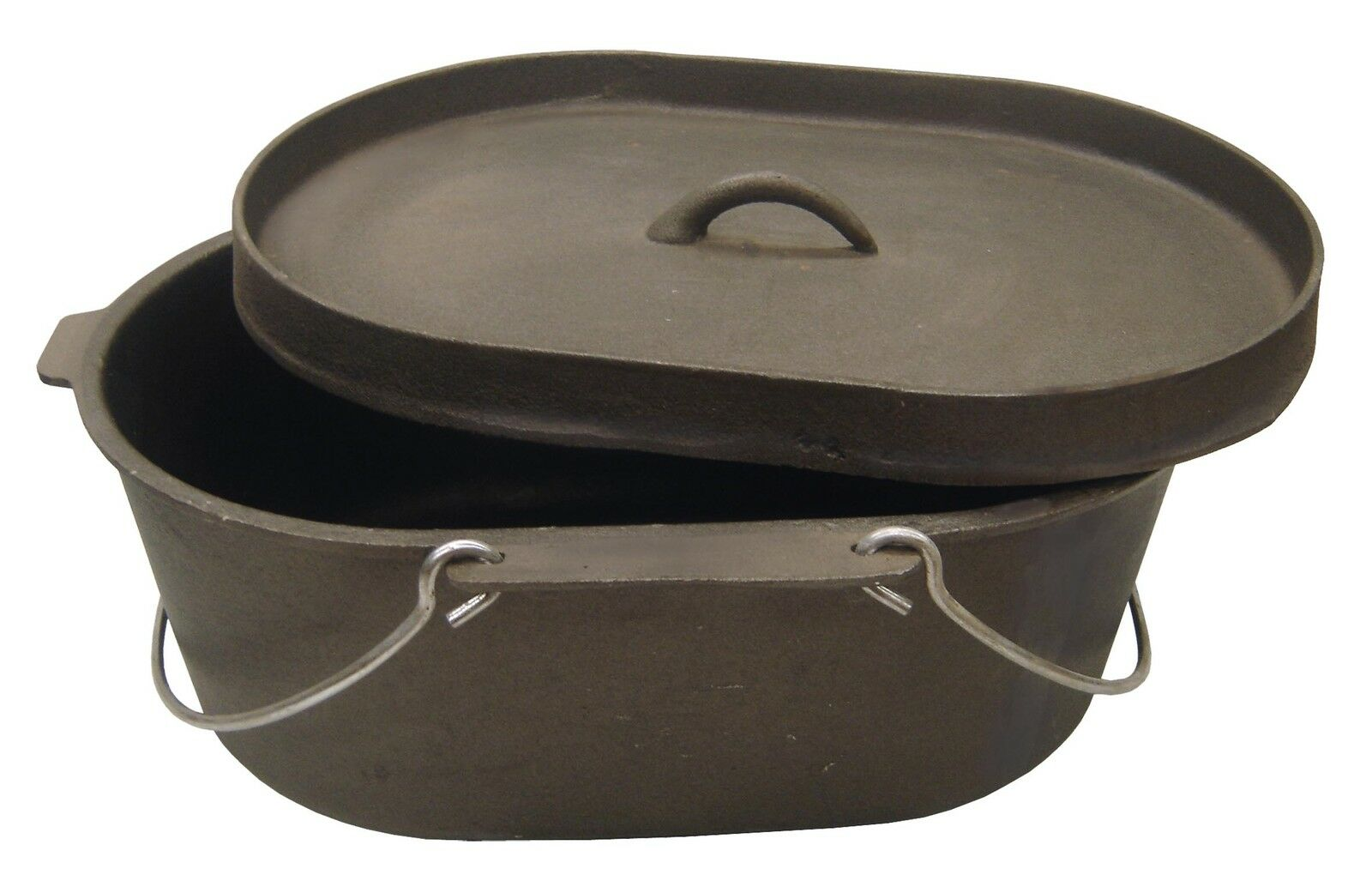 Oval 9 quart heavy duty cast iron dutch camp oven cooking for Cast iron dutch oven camping recipes